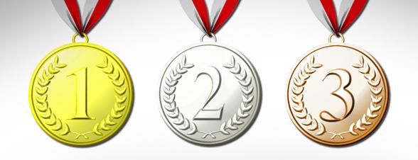Markering for NM-medaljører